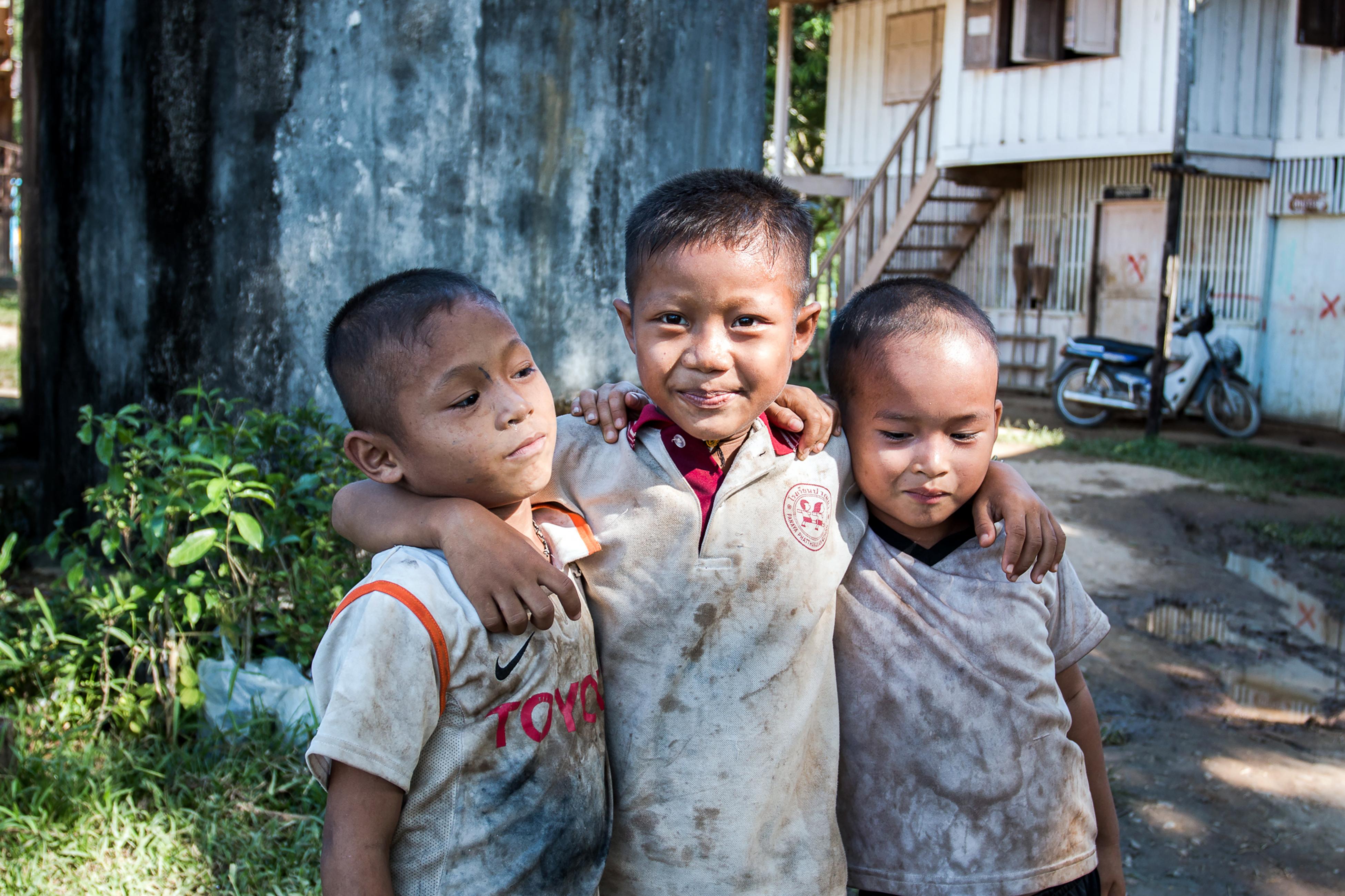 Children in Kanchanaburi Province, Thailand