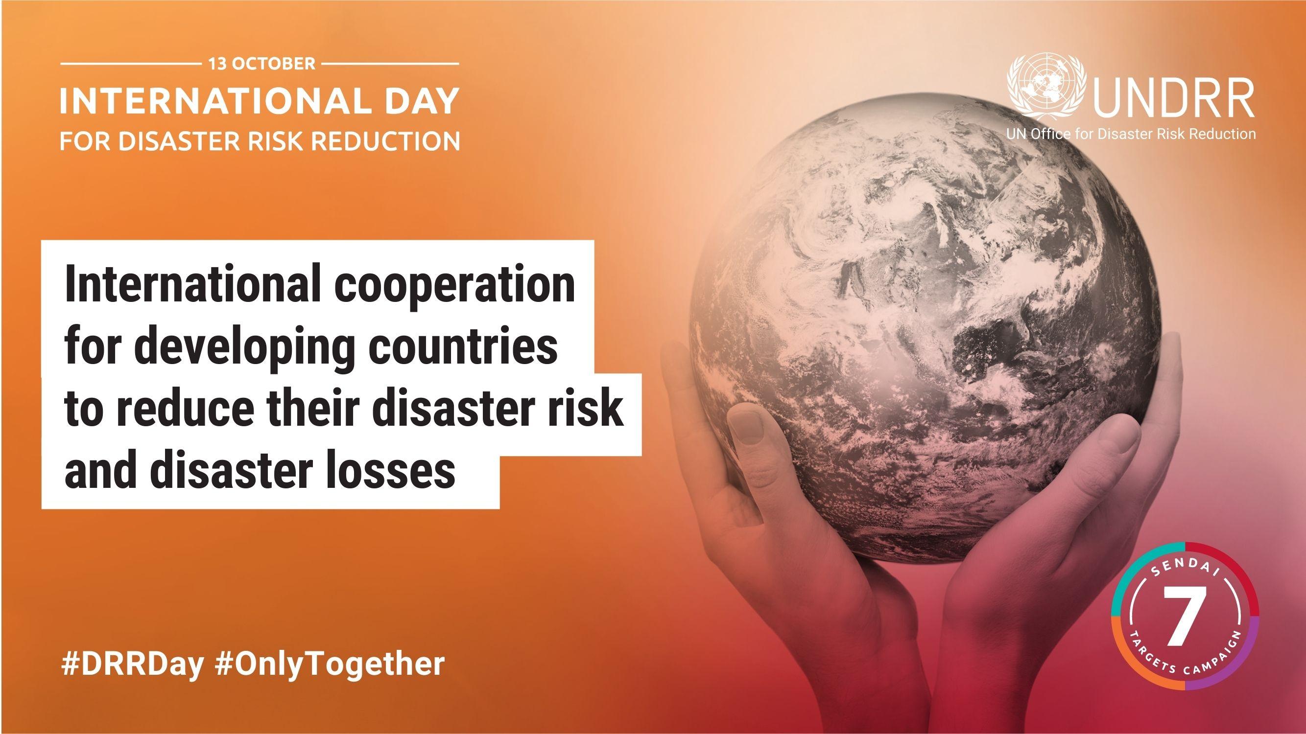 #OnlyTogether for Disaster Risk Reduction