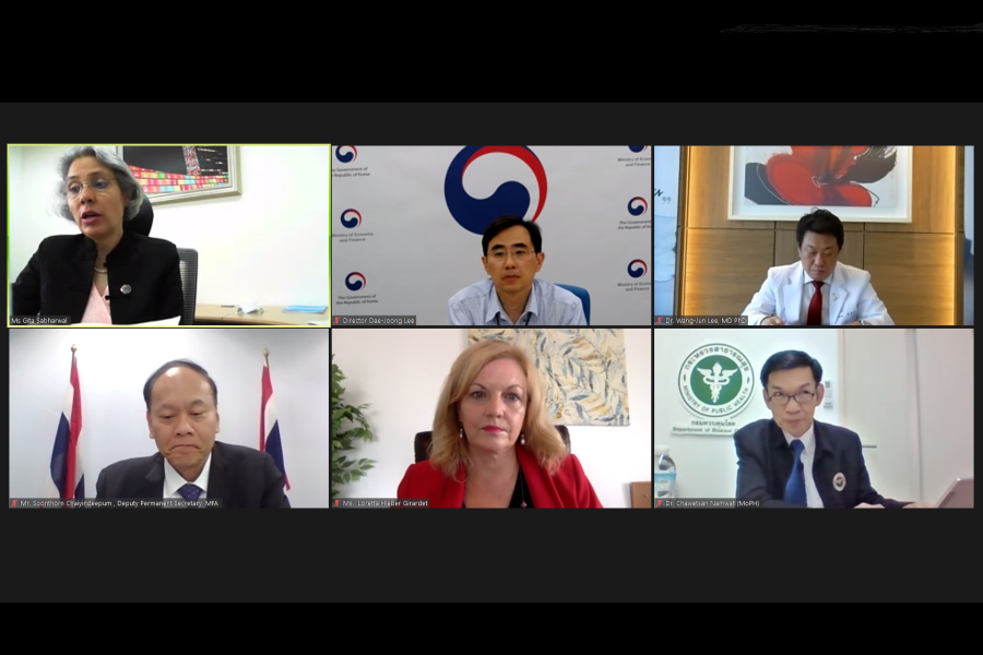 The panelists share their views for the opportunities in the 'new normal' via teleconference