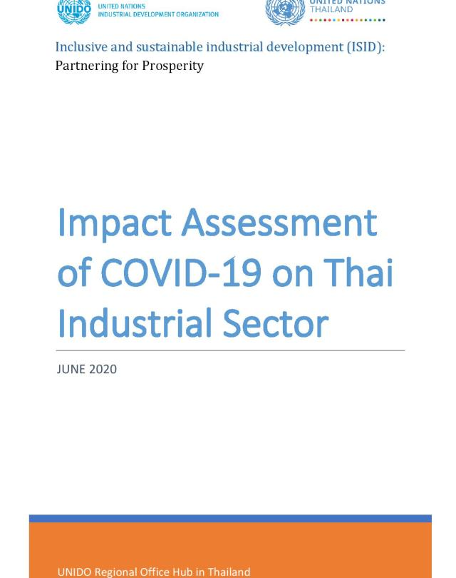 Impact Assessment of COVID-19 on Thai Industrial Sector